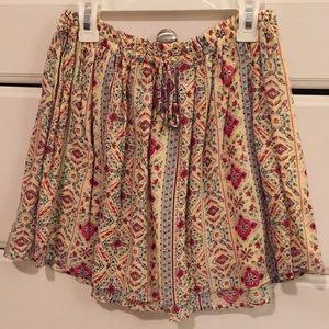 Forever 21 multi-colored patterned short skirt